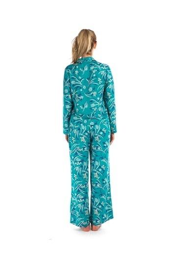 Pamuk & Pamuk Kadın Kruvaze Pijama Takımı Renkli